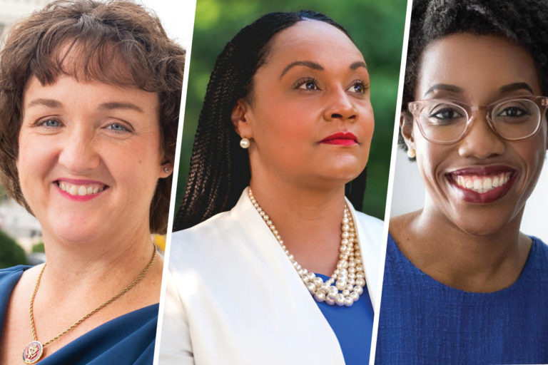 Introducing NDTC Honorary Co-Chairs Katie Porter, Lauren Underwood, and Nikema Williams image